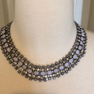 Diamond & blue stone Art Deco necklace/choker